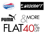 Amazon: Backpack Sale : Flat 40% OFF on Wildcraft, Puma, American Tourister & More