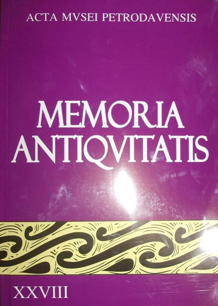 Copera 1 a revistei Memoria Antiquitatis - XXVIII, 2012..