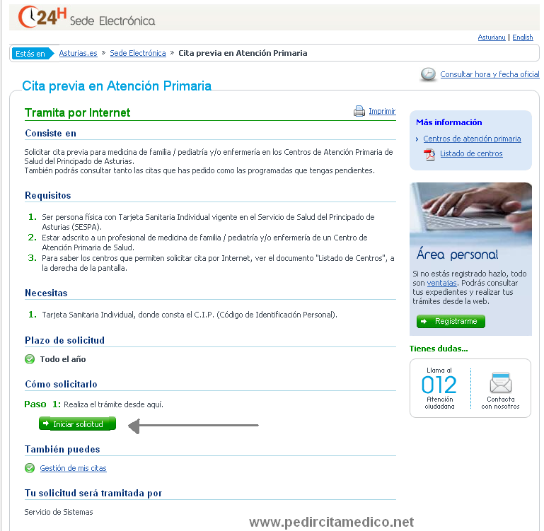 Cita medico cita para el medico por internet y por telefono share the knownledge - Pedir cita al medico de cabecera por internet ...