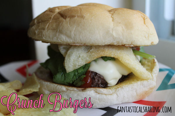 Crunch Burgers - a Bobby Flay #recipe that is absolutely killer with potato chips & horseradish mustard mayo | www.fantasticalsharing.com/