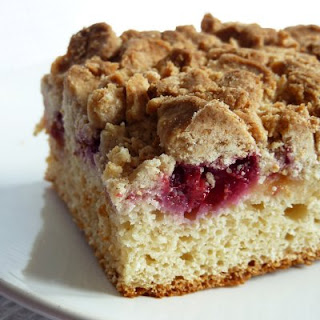 enter the thought behind raspberry crumb cake