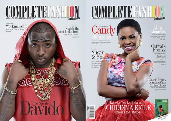Davido and Chidinma cover June issue of Complete Fashion Mag