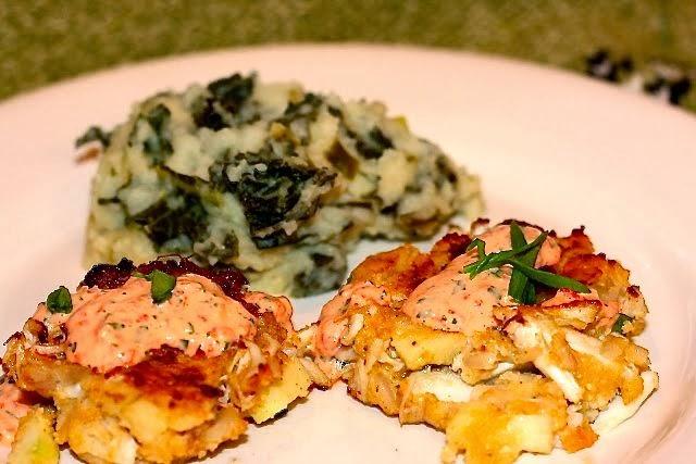 Irish Crabcakes & Colcannon