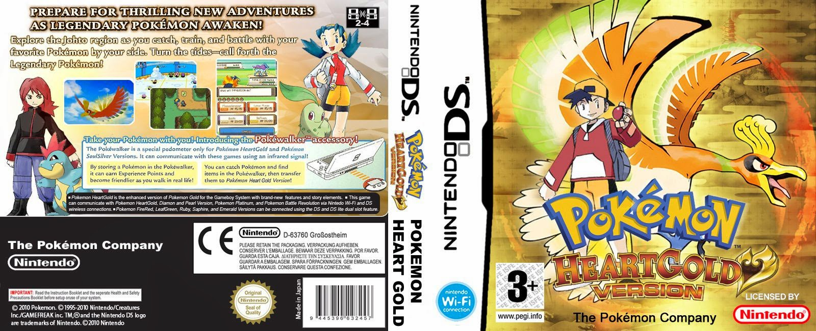 Capa Pokemon Heart Gold Version Nintendo DS