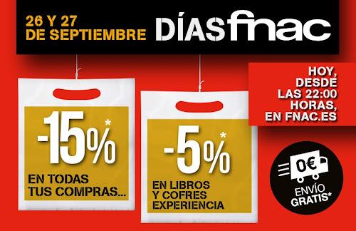 Mejores ofertas días fnac 26 y 27 septiembre 2014