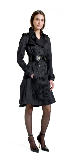Altuzarra For Target Collection: Trench coat, black jacquard, croc effect belt, ankle strap shoes, Over The Knee Boots, fashion, designer, style, the purple,scarf, melanie.ps, toronto, ontario, canada