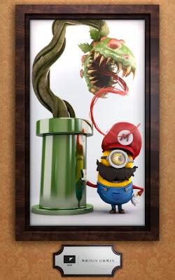 Minion Mario Bros y Planta