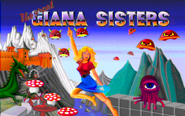 Great Giana Sisters Amiga title screen