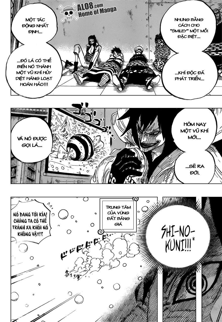 """One Piece Chapter 675: Và nó được gọi là """"Shi-no-Kuni"""" 014"""