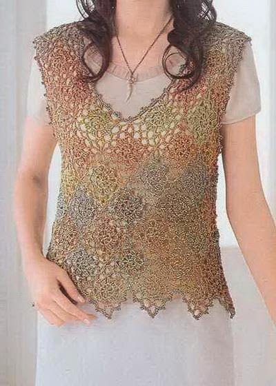 Free Crochet Patterns For Vests : Crochet Sweaters: Crochet Vest Free Pattern - Nice Lace ...