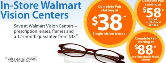 50% Off Walmart Vision Center Hot Coupons & Promo Codes.
