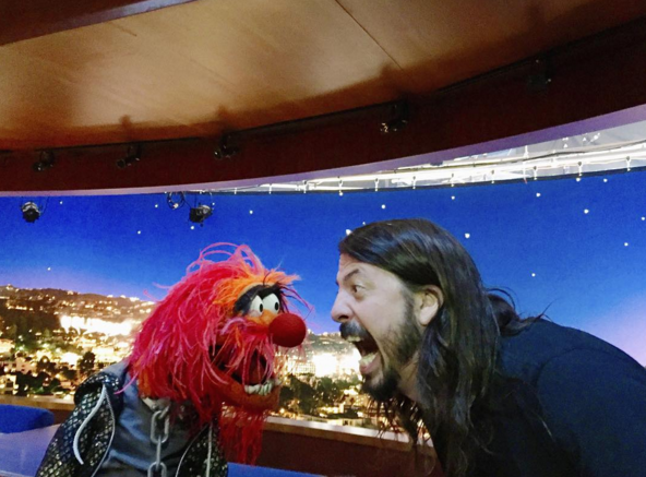 Foo Fighters Dave Grohl vs Die Muppets Animal