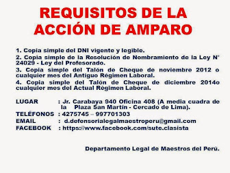 REQUISITOS PARA LA ACCIÓN DE AMPARO