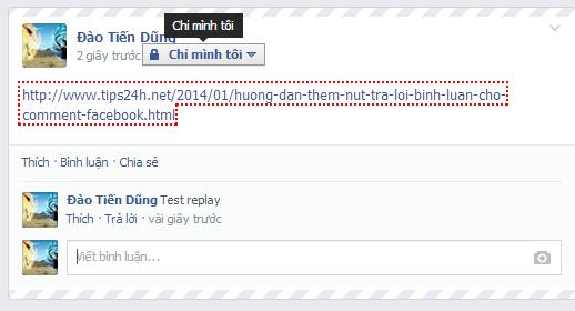 Hướng dẫn thêm nút trả lời bình luận cho comment facebook