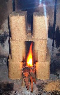 Brykiet drzewny z Castoramy w kominku