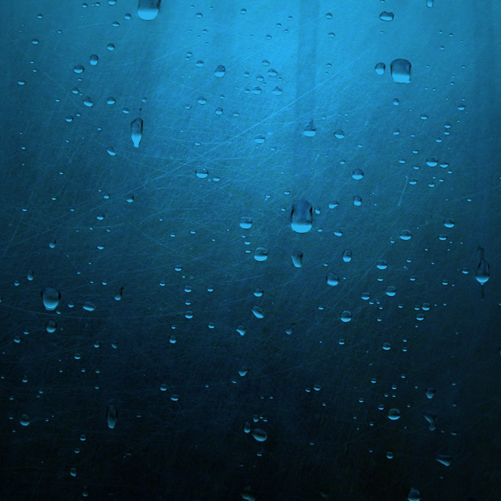 Glass Wallpaper: IPad Wallpaper - Water Drops On Glass