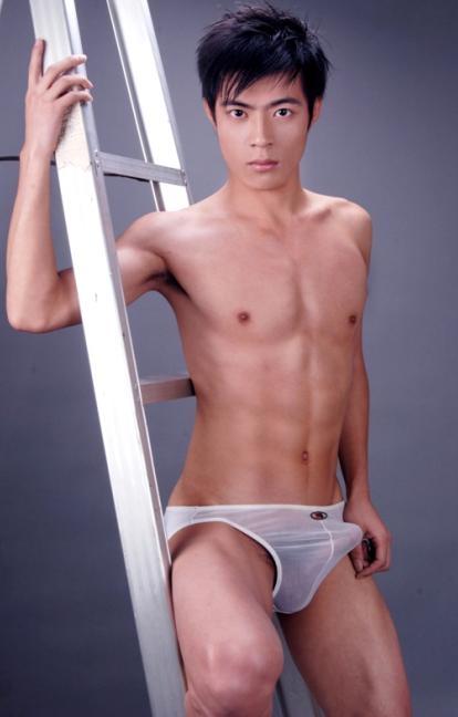 Asian boy in their underwear