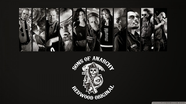 Sons Of Anarchy. Logo y pesonajes principales.