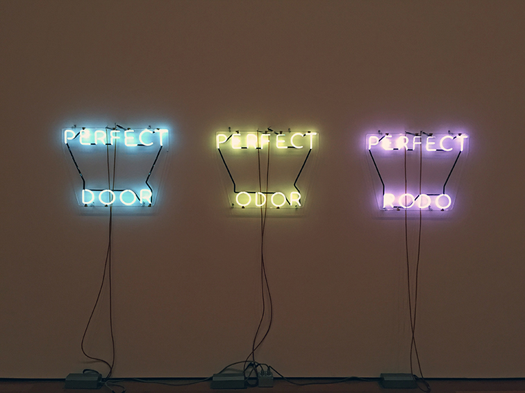 Perfect Door/Perfect Odor/Perfect Rodo by Bruce Nauman at the MOMA, NYC