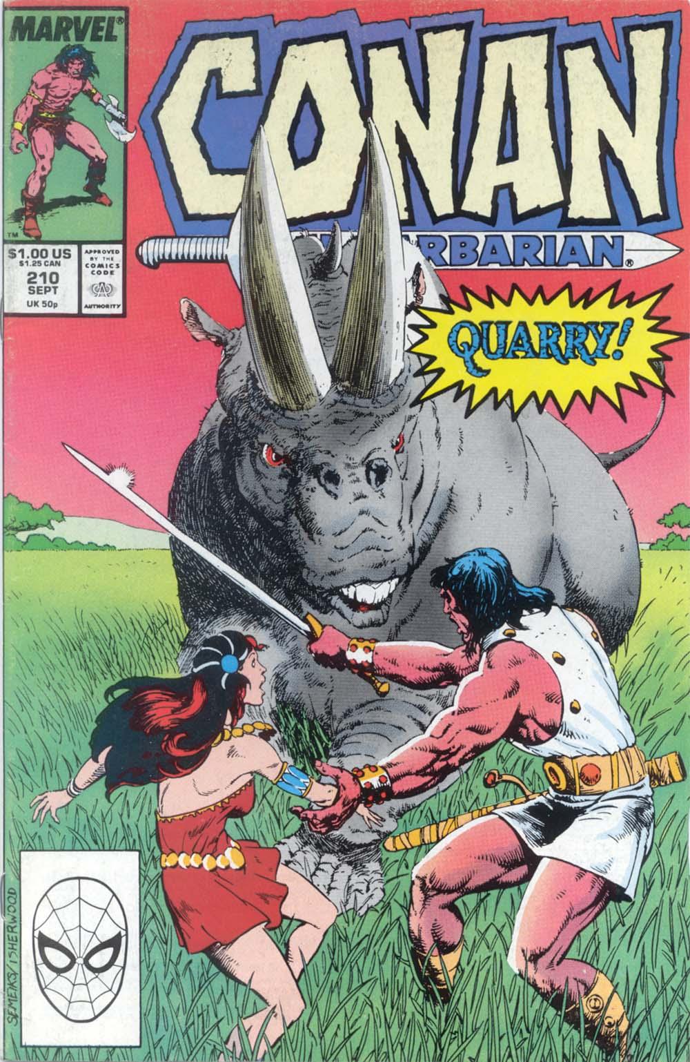 Conan the Barbarian (1970) Issue #210 #222 - English 1