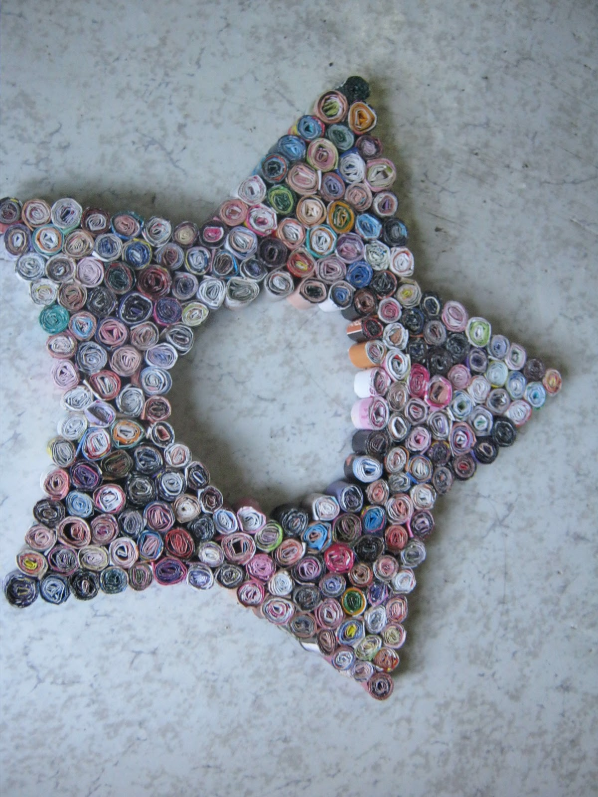 How To Recycle Recycled Christmas Star Decorations