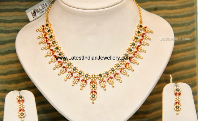 CZs Gold Necklace set