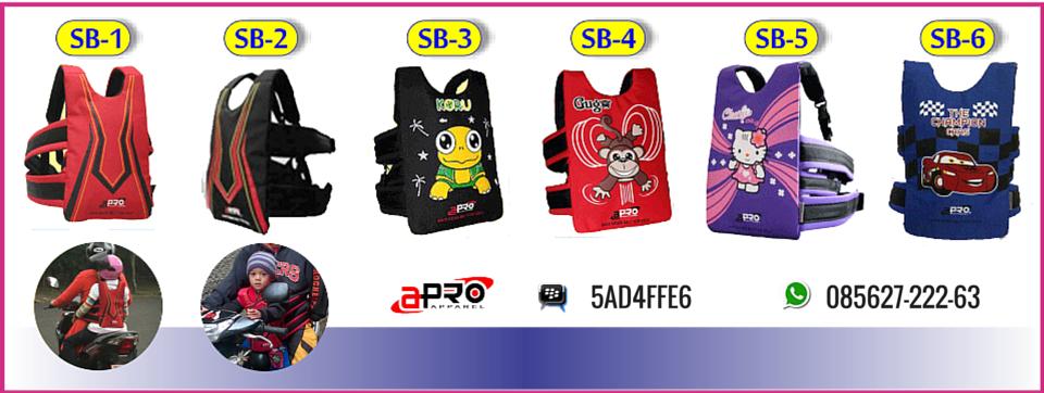 BB : 5AD4FFE6 | 085627-222-63 | Sabuk Bonceng Anak Apro | Sabuk Bonceng Motor | Boncengan Anak