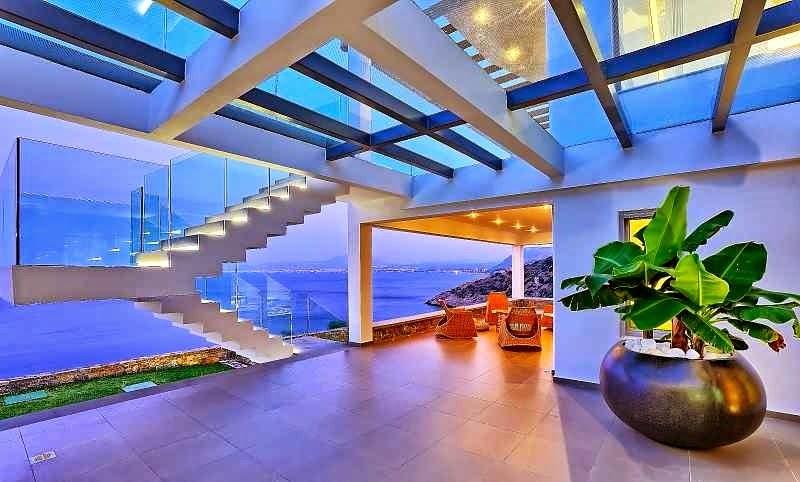 Casa de playa en isla creta con impresionantes vistas al for Casa moderna juegos