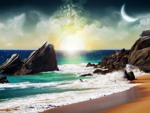 Fantasy Beach Wallpaper