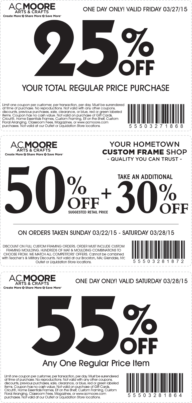 Www acmoore com coupons
