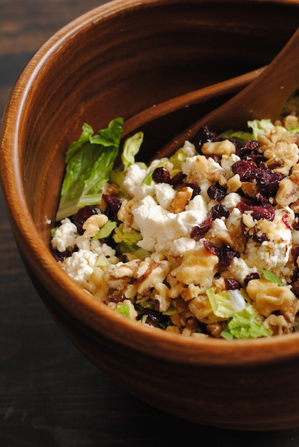 Cranberry Walnut Salad with Feta and Apples