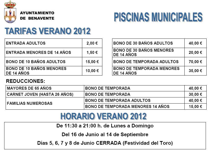 Agenda Benavente Piscinas Municipales De Benavente Verano