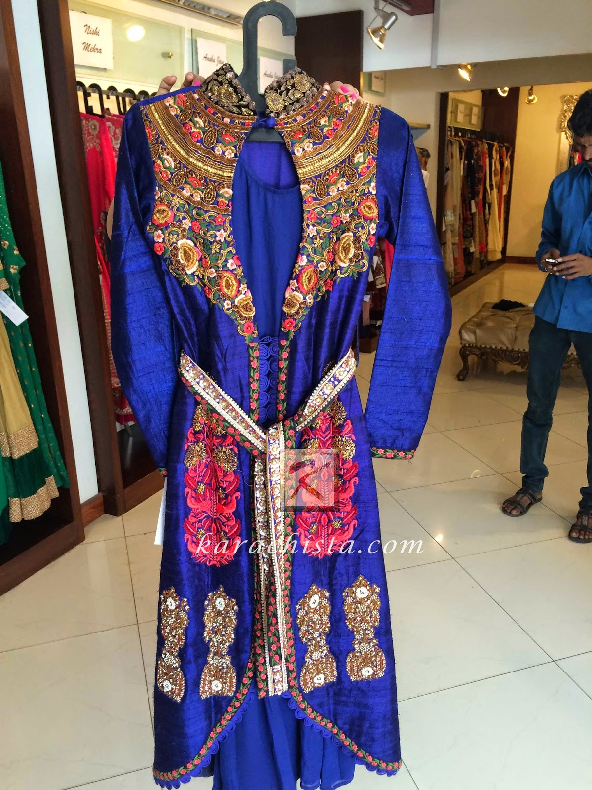Royal Blue outfit by Indian designer Anshu Jain