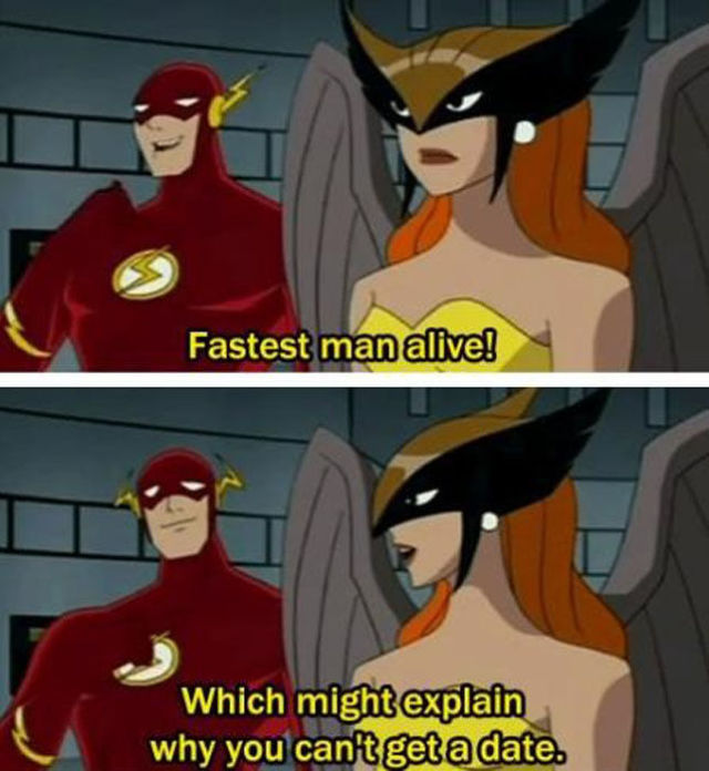 The Reason Why The Fastest Man Alive Flash Can't Get A Date!