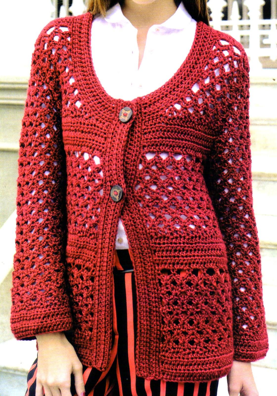 saco artesanal tejido al crochet