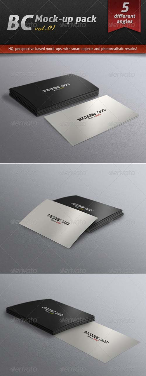 Business Card Mock-up Photoshop PSD Vol 01