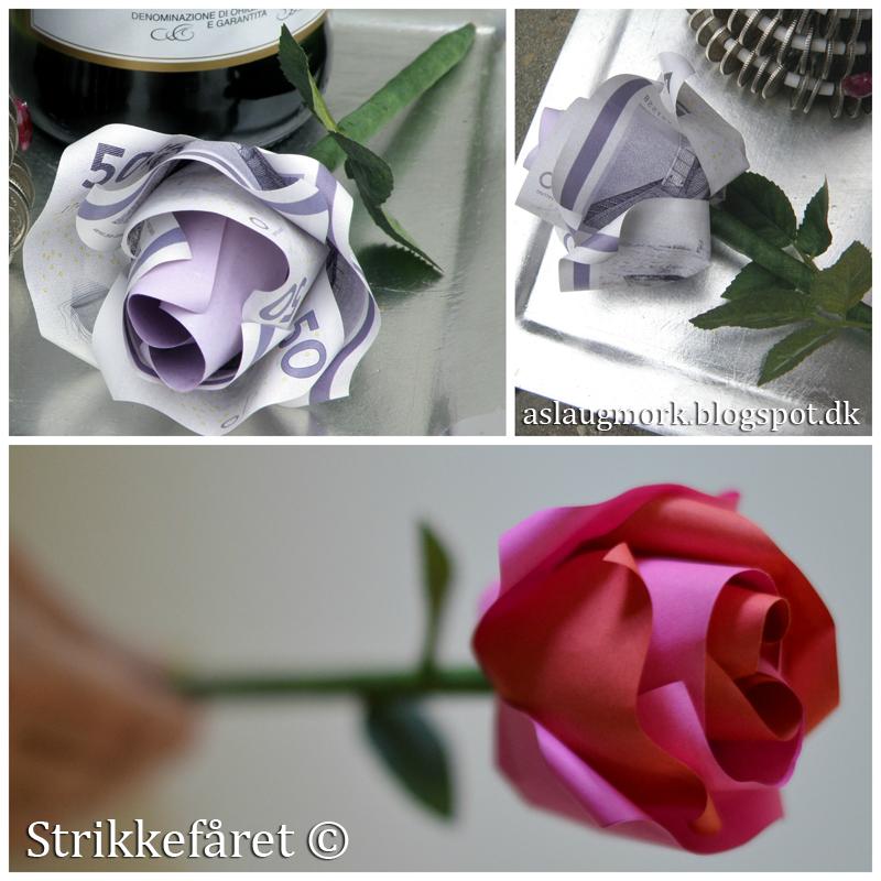 folde pengesedler rose