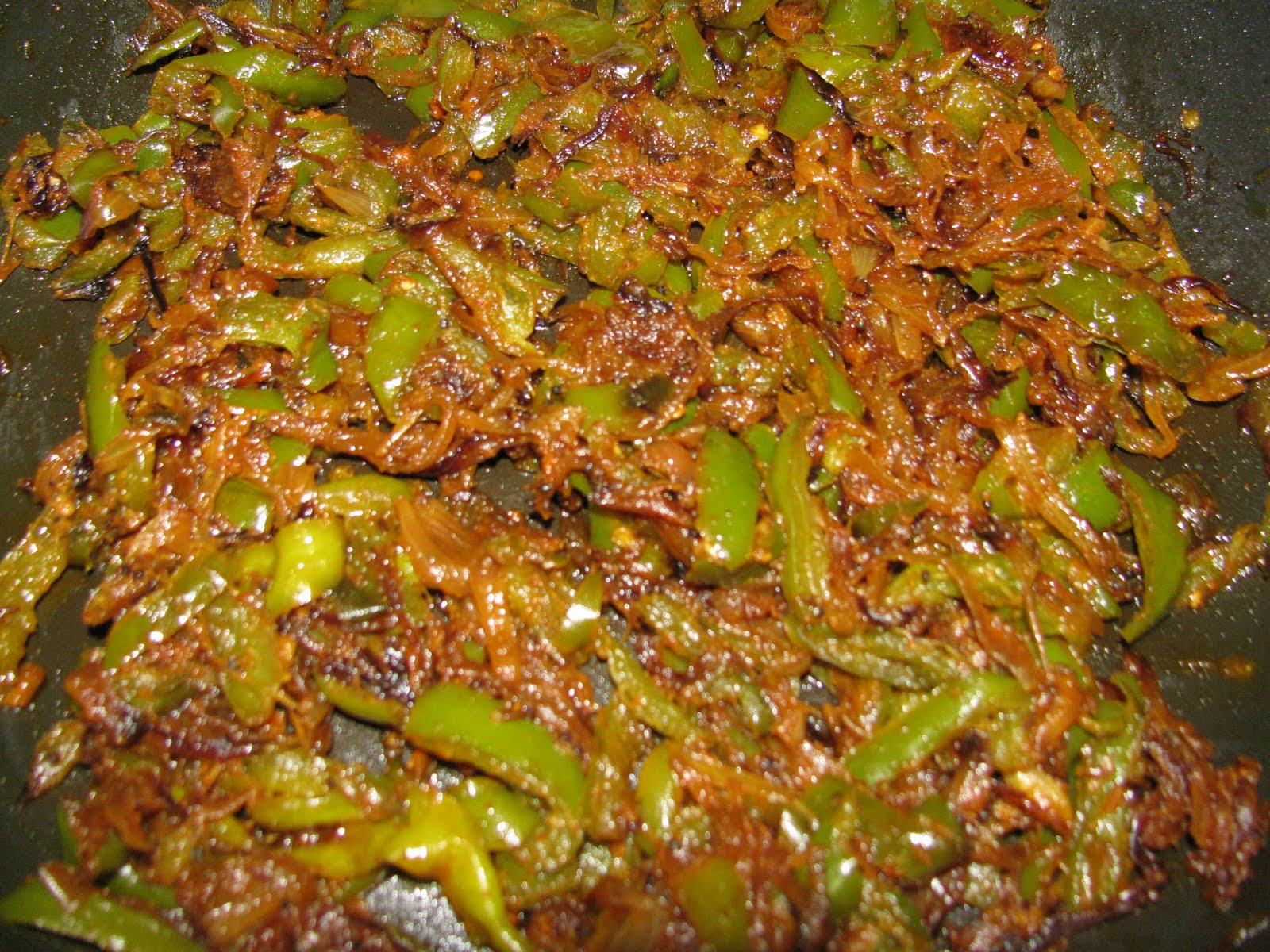 Food SliceCapsicum Fry/ Bell pepper curry