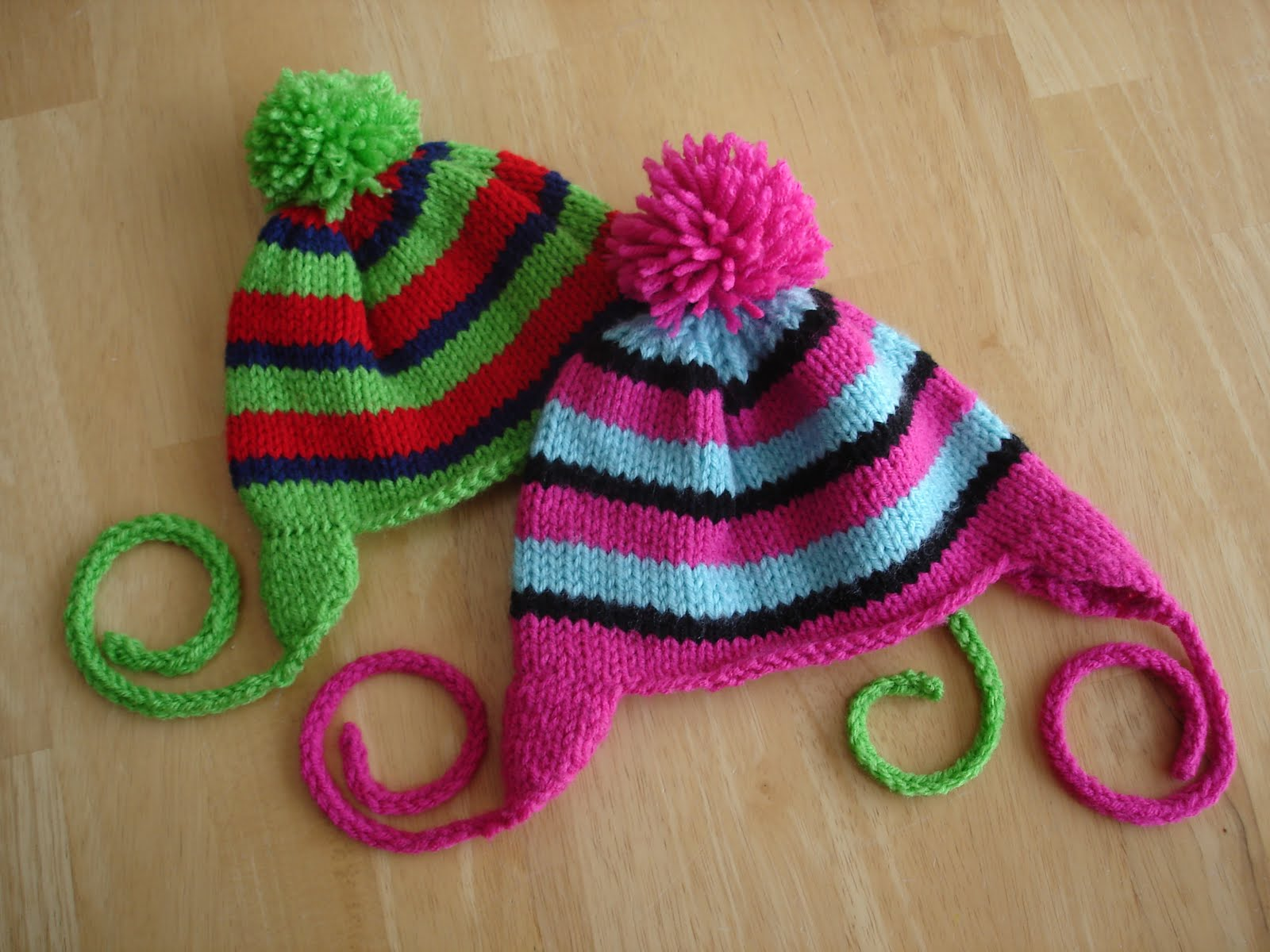 Knitting Patterns Child Hats Free : Fiber Flux: Free Knitting Pattern! Rock Candy Hat