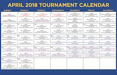 April Tournament Calendar