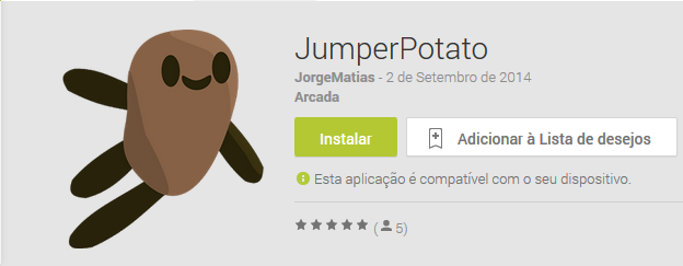 Jumper Potato, Game, Android