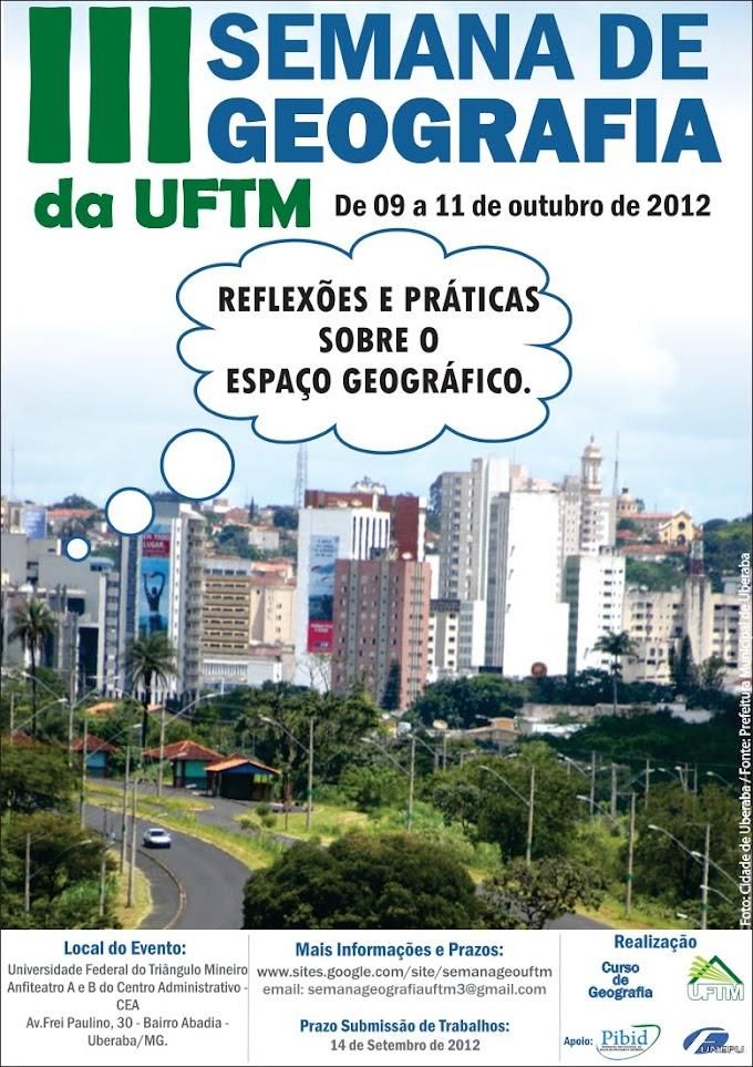 III Semana de Geografia da UFTM
