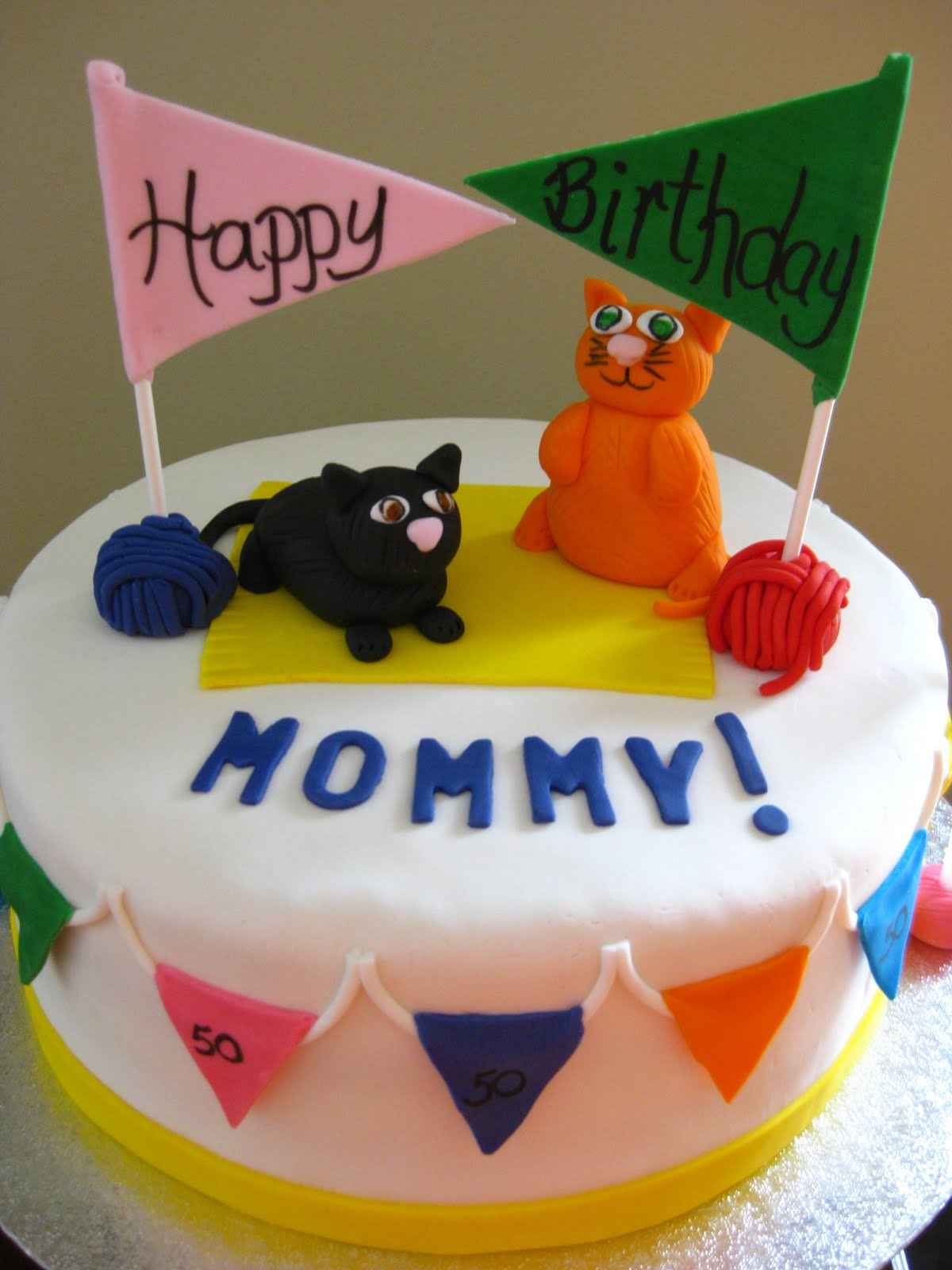 Lifes Sweet Kitty Cat Birthday Cake