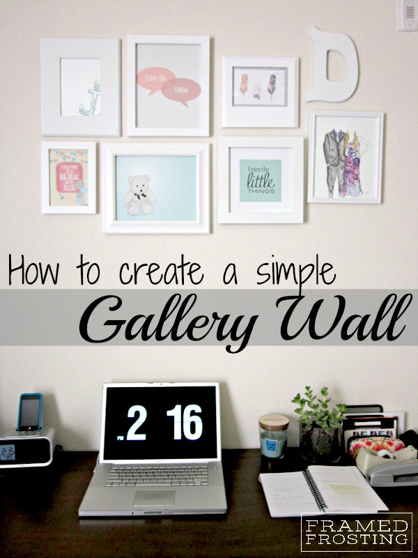 How to DIY a Gallery Wall | via Framed Frosting blog