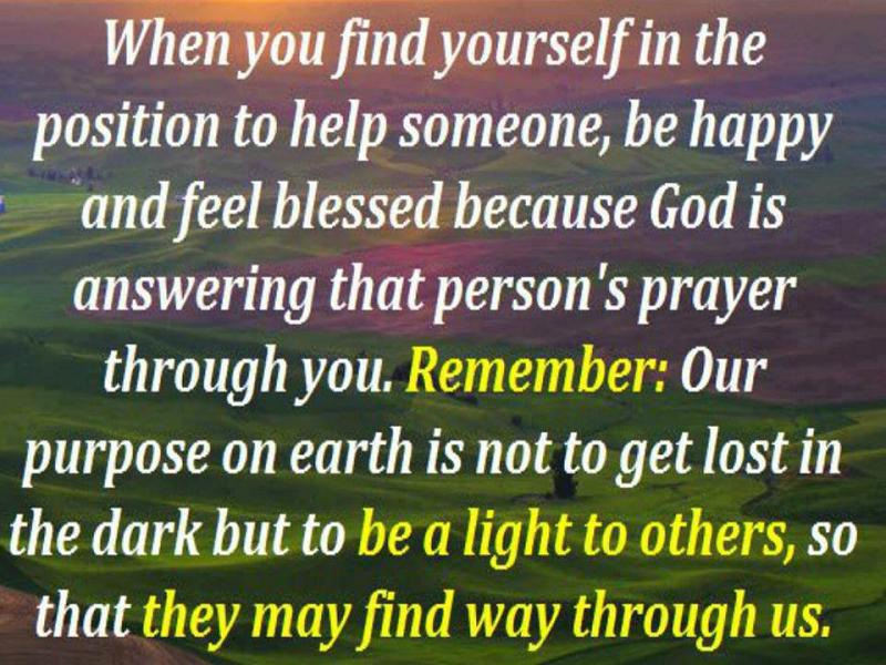 life inspiration quotes being a light to others