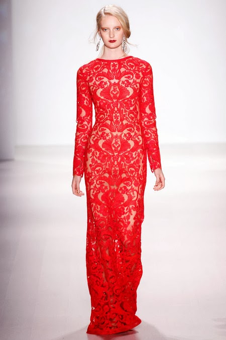 Modest design from Tadashi Shoji Fall 2014 collection | Mode-sty: style and modesty