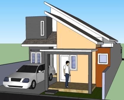 Desain Lantai on Contoh Model Denah Desain Rumah Minimalis 1 Lantai 2 Lantai Tipe 36 45