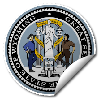 Sticker of Wyoming Seal