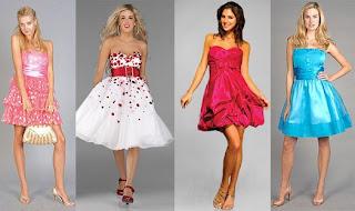 Vestidos de diversas cores, ideais para jovens e festas