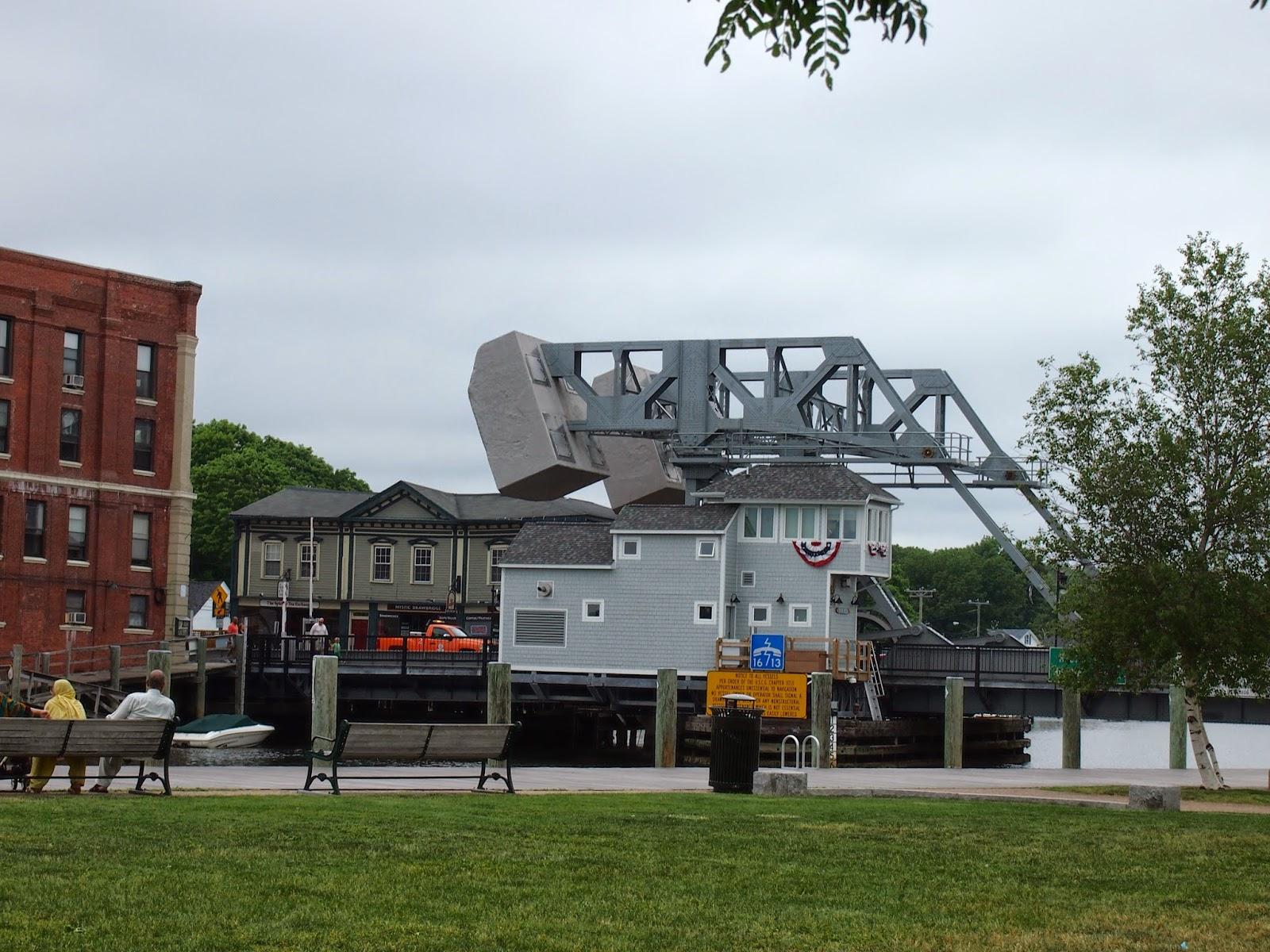 a side view of the Mystic River Bascule Bridge